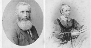 Josiah Holman, born at Gwennap, Cornwall, in 1821, took up the position of Mine Captain at Cadia in 1862. He and his wife, Elizabeth, were to have a life-long association with the Cadia community, eventually turning from mining to farming (French Collection). Elizabeth Holman, nee Simmons (French Collection).
